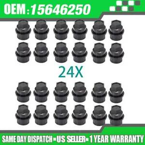 24 Pcs Lug Nut Cover Cap Fits For Chevy Gmc 1500 2500 Full Size Truck 15646250