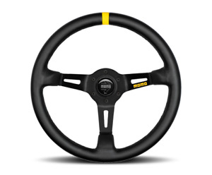 Momo Steering Wheel Mod 08 Black Leather 350mm Us Dealer