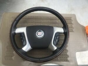 07 13 Gm Steering Wheel Cruise Control Heated Maple Brown Cadillac