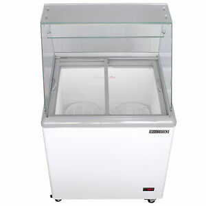 Maxx Cold 4 Flavor 7 5 Cu Ft Commercial Ice Cream Dipping Cabinet Freezer Mxdc 4
