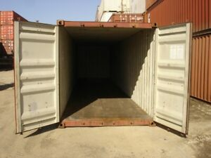 Used 40 High Cube Steel Storage Container Shipping Cargo Conex Seabox Detroit