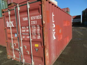 Used 20 Dry Van Steel Storage Container Shipping Cargo Conex Seabox El Paso