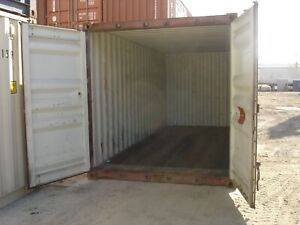 Used 40 Dry Van Steel Storage Container Shipping Cargo Conex Seabox El Paso