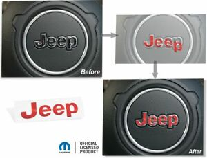 Jeep Steering Wheel Lettering Overlay Decal Fits 2020 Jeep Gladiator