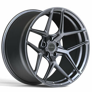 19 Brixton Forged Rf7 Grey 19x8 5 19x10 Wheels Rims Fits Porsche 987 Cayman