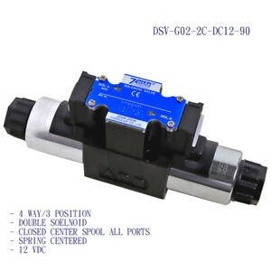 D03 Solenoid Operated Directional Valve 4 way 3 position 2c 12 Vdc