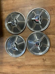 Oem 1965 Ford Mustang Wheel Covers Hubcaps Set Of 4 13 Spinners