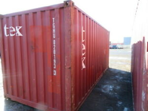 Used 20 Dry Van Steel Storage Container Shipping Cargo Conex Seabox Houston