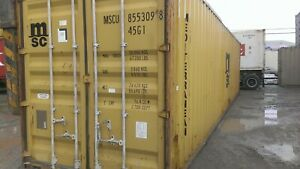 Used 40 Dry Van Steel Storage Container Shipping Cargo Conex Seabox Houston