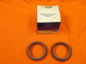 69 shelby mustang cougar 351 one Pair Nos Exhaust Manifold To Pipe Donut Gasket
