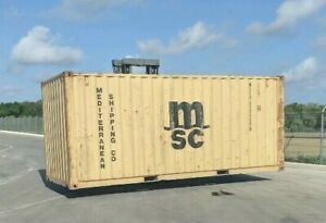 Used 20 Dry Van Steel Storage Container Shipping Cargo Conex Seabox Jacksonvill