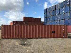 Used 40 High Cube Steel Storage Container Shipping Cargo Conex Seabox Jacksonvi