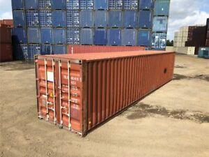 Used 40 Dry Van Steel Storage Container Shipping Cargo Conex Seabox Kansas City