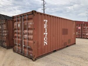 Used 20 Dry Van Steel Storage Container Shipping Cargo Conex Seabox Long Beach