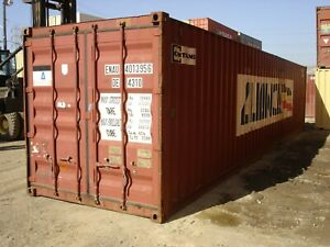 Used 40 High Cube Steel Storage Container Shipping Cargo Conex Seabox Long Beac