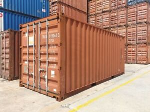 Used 20 Dry Van Steel Storage Container Shipping Cargo Conex Seabox Miami