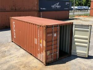 Used 20 Dry Van Steel Storage Container Shipping Cargo Conex Seabox Minneapolis