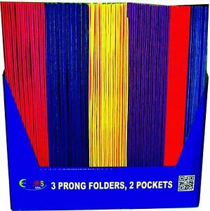 2 Pocket Folders With Prongs Asst Colors In Display Case Pack Of 100