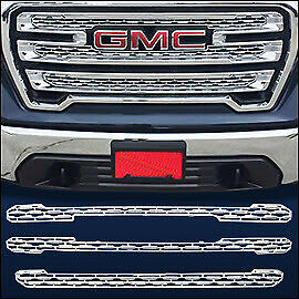 Chrome Grille Overlay Trim Fits 2019 2020 Gmc Sierra 1500 Slt At4 Only