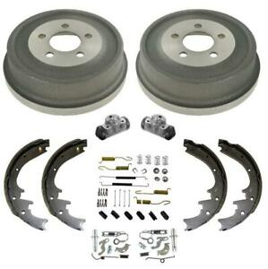 Rear Brake Drums Shoes Spring Wheel Cylinder Kit For Jeep Liberty 8pc 2002