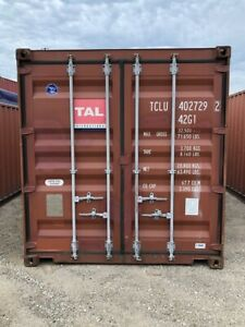Used 40 High Cube Steel Storage Container Shipping Cargo Conex Seabox Oakland