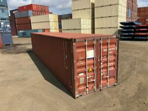 Used 40 Dry Van Steel Storage Container Shipping Cargo Conex Seabox Omaha
