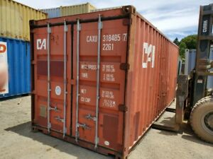 Used 20 Dry Van Steel Storage Container Shipping Cargo Conex Seabox Salt Lake