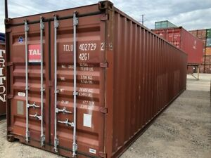 Used 40 Dry Van Steel Storage Container Shipping Cargo Conex Seabox Salt Lake
