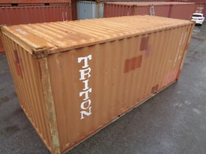 Used 20 Dry Van Steel Storage Container Shipping Cargo Conex Seabox St Louis