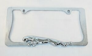 Chrome Plated Zinc Metal Jaguar License Plate Frame