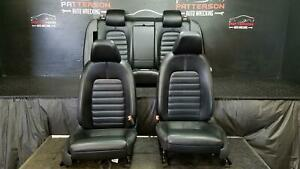 2009 Vw Cc Front Rear Power Seat Black Leather W Memory