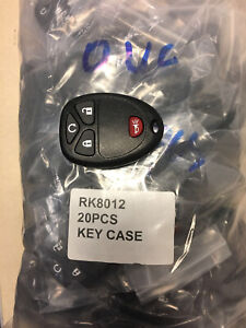 20pcs Replacement Keyless Entry Remote Key Fob Case For Chevrolet Gmc Shell