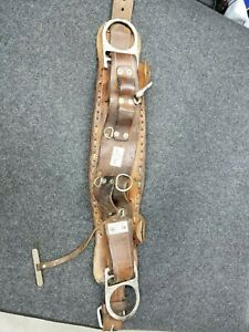 Bashlin Leather Lineman Climbing Belt Size D 18 Model No 88