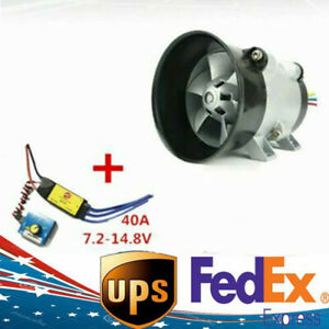 Car Electric Turbine Power Turbo Charger Air Intake Fan With Esc 40a Brushless