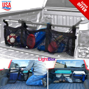 Truck Bed Cargo Folding Bag Large Stabilizer Bar Management Net Camping Travels