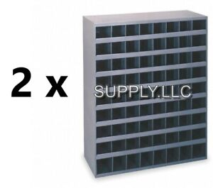 Metal 72 Hole Storage Bolt Bin Cabinet Compartment Nuts Bolts Fasteners 2 Bins