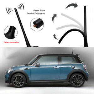 8 Universal Aerial Antenna Mast Car Am Fm Radio Short Stubby Rubber Roof Black
