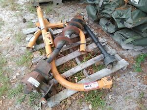3 point Post Hole Digger Tractor Sold For Parts Local Pick Up