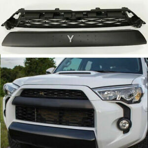 For 2014 2019 4runner Trd Pro 2 Piece Grill Front Bumper Grille Replacement Bs1