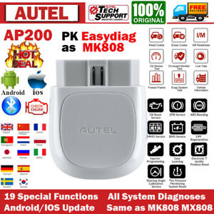 Bluetooth Obd2 Scanner Elm327 Car Diagnostic Tool Code Reader Android Ios Iphone