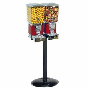 2 Tough Pro Gumball Vending Machines On Black Stand