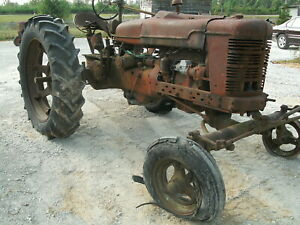 Ih Farmall H Wide Front Tractor For Parts Or Restore