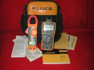 Fluke 117 Flukemeter 322 Clamp Meter Multimeter Set