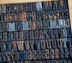 Letterpress Wood Printing Blocks 364 Pcs 1 42 Tall Printers Alphabet Type Abc
