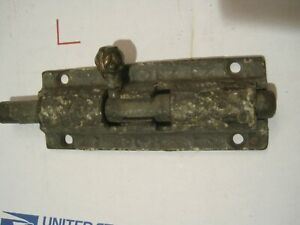Original Victorian Eastlake Slide Bolt Barrel Lock 4 1 8 X 1 1 2 Hardware 2