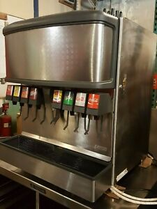 Package 8 Flavor Soda W Ice Dispenser Box Rack Flojet Pumps Co2