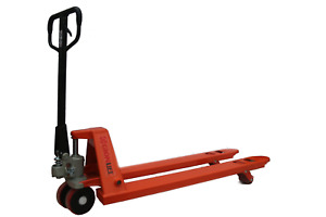 Narrow Manual Pallet Jack 5500 Lbs Capacity 48 l X 21 w Fork