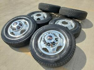 24 Fuel Cleaver Chevy Gmc 3500 Dually Black Rims Wheels 40x15 5x24 Tires 8x210