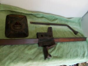 Vintage Early Bumper Jack With Tire Iron 40 s 50 s Works Chevy Dodge Ford