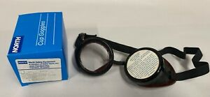 Unused Vtg Norton 5001 Steampunk Aviator Motorcycle Chippers Safety Goggles a5